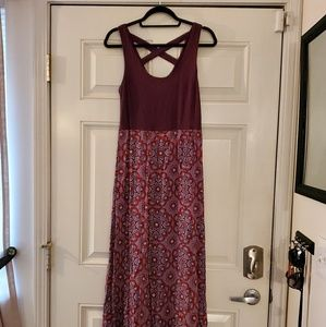 Sleeveless patterned maxi dress, Mudd